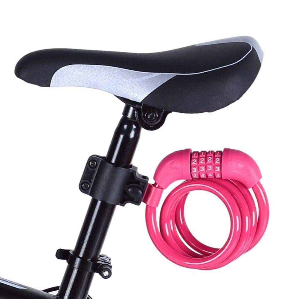 StyleZ Mountain Bicycle Locks Cable Secure Resettable Combination Bike Cable Lock Coiling 4FT with Mounting Bracket