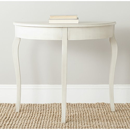 (Safavieh AMH6639B American Homes Collection SEMA Console Table, Antique White)