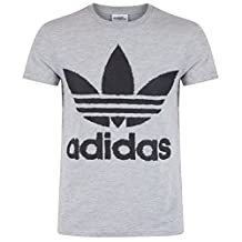 adidas Originals Mens X Jeremy Scott Linear Logo T-Shirt Tee Top - Gray - S