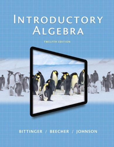 Introductory Algebra (12th Edition)