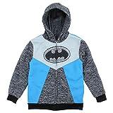 Batman DC Comics Boy's Full-Zip Hooded Jacket with Cape (Black, 7)