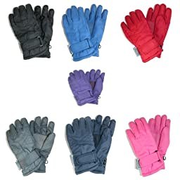 CTM Toddlers Thinsulate Lined Water Resistant Winter Gloves, Grey
