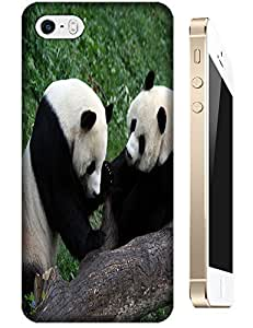 Two Lovely Pandas Playing happy cell phone cases For Apple Accessory iPhone 5C