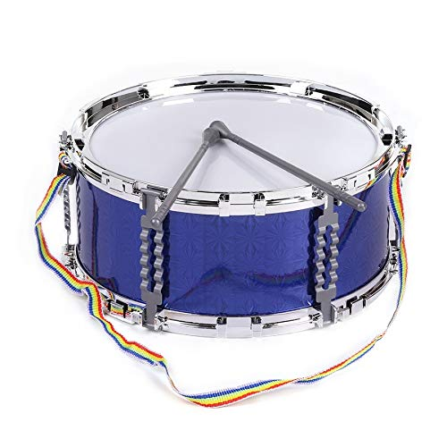 - Colorful Jazz Snare Drum Percussion Instrument with Drum Sticks Strap Musical Toy for Children Kids