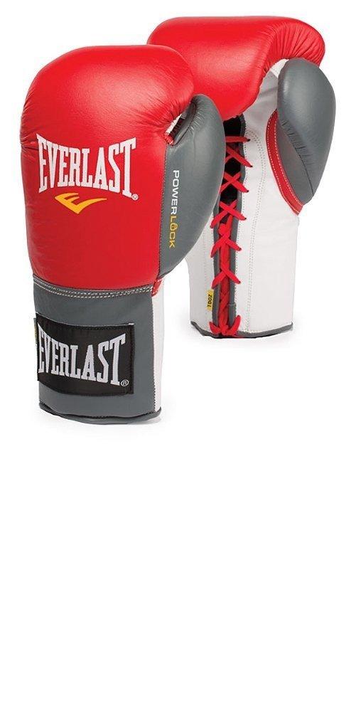 Everlast Powerlock Lace Training Boxing Gloves (Black/Grey)