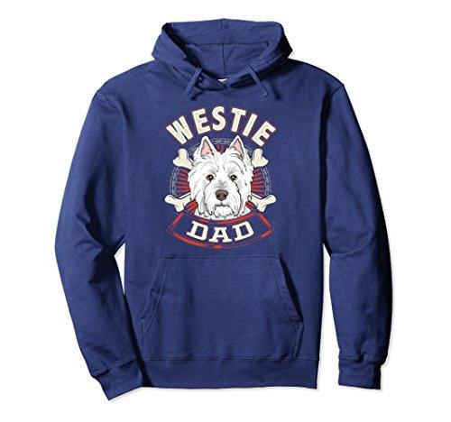 (Unisex Dog Breed Shirts for Men - Westie Dad sweatshirt XL: Navy)