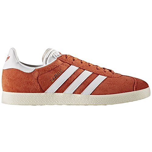 Adidas Heren Gazelle Lace-up Sneaker, Oogst / Wit 9 M