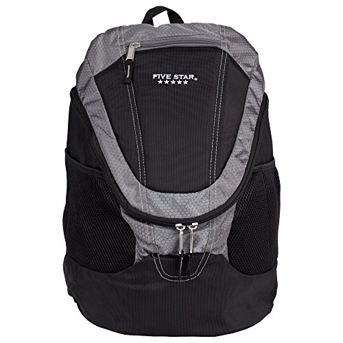 - Five Star Big Mouth Backpack, Dark Gray