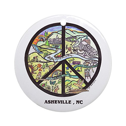 CafePress - Awesome Asheville , Nc Original Art Ornament Round - Round Holiday Christmas Ornament (Party City In Asheville Nc)