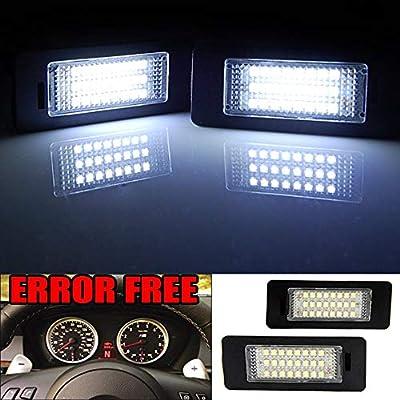 Indicador LED lámpara bmw 1er e82 e88 3 e90 e91 iluminación de la matrícula Clear
