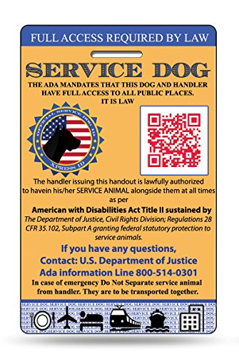 Service Dog ID Card | Includes Registration to National Dog Registry (Custom Service Dog Id Card compare prices)