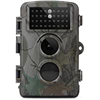 UUFFOO Trail Camera 12mp 1080p HD Game & Trail Hunting Camera with Night Vision 34 Pcs Updated IR LEDs Wildlife Camera Motion Activated IP56 Waterproof Design