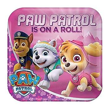 8 platos * Paw Patrol Rosa * para fiestas de cumpleaños ...