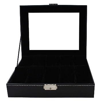Todeco - Caja de Relojes, Caja de Almacenamiento de Relojes y Pulseras - Tamaño: