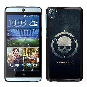 MOBMART Carcasa Funda Case Cover Armor Shell PARA HTC Desire D826 - The Skull Symbol Of Death