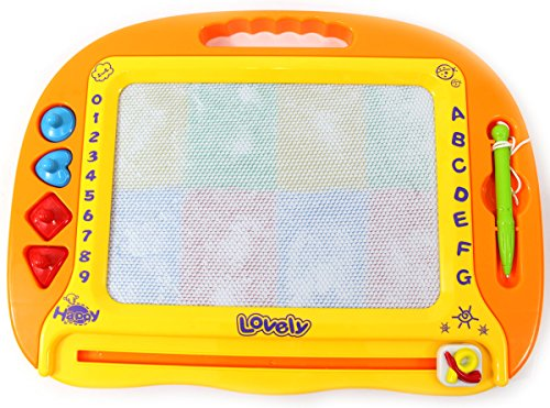 Price comparison product image PowerTRC® Magnetic Drawing Doodle Board for Kids with 4 Shape Stampers