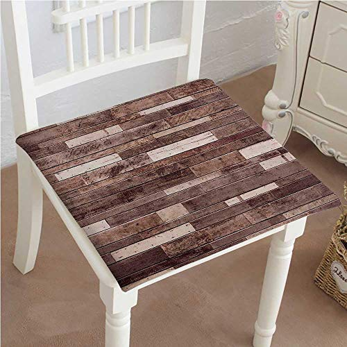 Modular Cottage Office (Chair Pads Square Cotton Chair Cushion Wooden Wall Floor Textured Planks Panels Art Print Grain Cottage Lodge Hardwood Brown Soft Thicken Seat Pads Cushion Pillow for Office,Home or Car 18