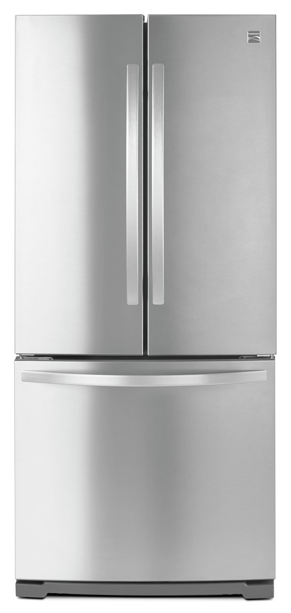 Kenmore 73003 19.5 cu. ft. Non-Dispense French Door Bottom-Freezer Refrigerator in Stainless Steel, includes delivery and hookup (Available in select cities only) by Kenmore (Image #1)