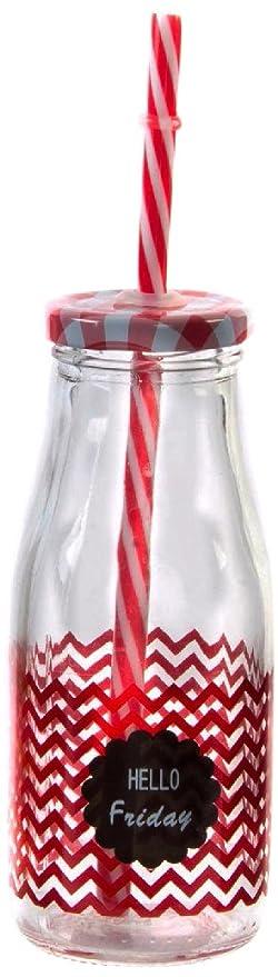 Item Botella, Cristal, 15x6x6 cm: Amazon.es: Hogar