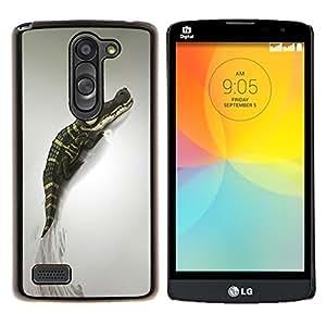 For LG L Prime D337 / L Bello D337 Case , Lindo cocodrilo- Diseño Patrón Teléfono Caso Cubierta Case Bumper Duro Protección Case Cover Funda