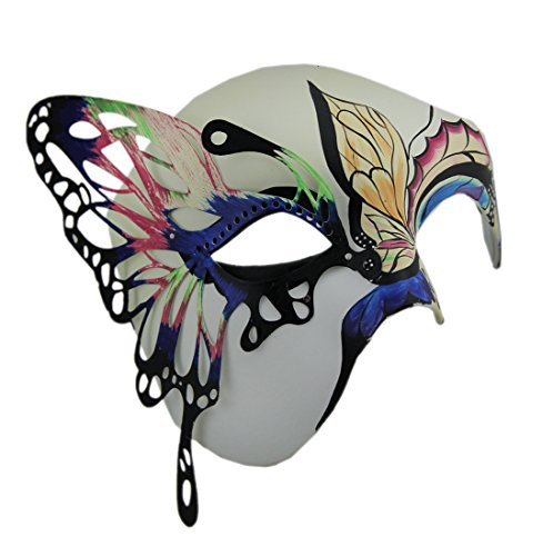 Butterfly Masquerade Colorful Half Face Mask -