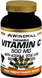 Windmill Vitamin C-500 Chewable Wafers 50 Tablets (Pack of 12)