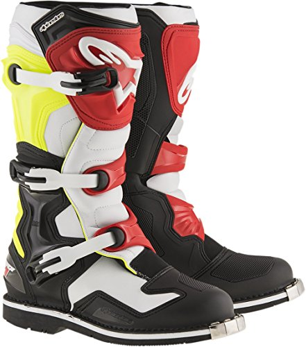 Alpinestars Mens Tech 1 Boot (Black/White/Yellow/Red, 16) by Alpinestars