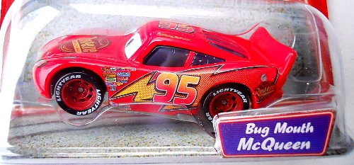 Disney / Pixar CARS Movie 1:55 Die Cast Supercharged Package Edition Bug Mouth Lightning McQueen Disney Pixar Cars Supercharged Bug