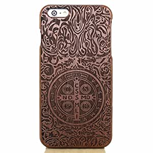 UCMDA High Quality Totem Constantine Pattern Handmade Natural Wood Wooden Hard Bamboo Shockproof Case for iPhone 6 4.7 Inch by icecream design