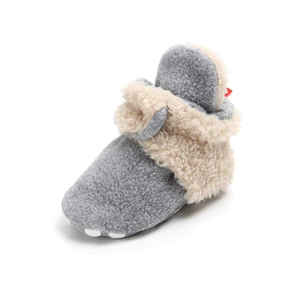 Botas de Niño Calcetín Invierno Soft Sole Crib Raya de Caliente Boots de Algodón  para Bebés Ampliar imagen b71511522ab7