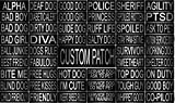 Dogline CUSTOM Removable Patches with backing and