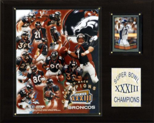 NFL Broncos Super Bowl XXXIII Champions Plaque (Super Championship Bowl Plaque)