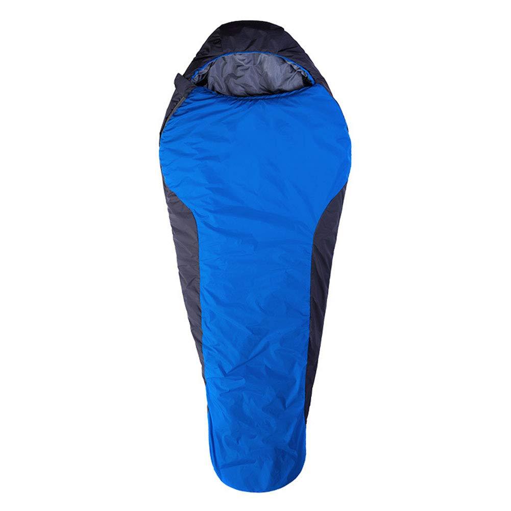 寝袋, スプライスさミイラ睡眠袋010℃快適暖かい睡眠袋防水通気性ソフトスリーピングパッドハイキングのためのグレート、バックパックキャンプ,Blue,220*85CM B07MYQ2NQT Blue 220*85CM