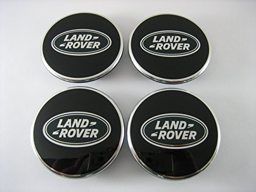 - Genuine Land Rover Black with Green Oval Polished Wheel Center Caps SET OF 4