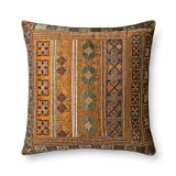 Loloi  Accent  Pillow  DSETP0498GOTEPIL3  Gold  /  Teal    22''  X  22''  100%  Polyester  Cover  with  Down  Fill
