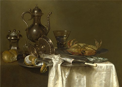 Praying Mantis Costume For Sale ('Willem Claesz. Heda Still Life Pewter And Silver Vessels And A Crab ' Oil Painting, 10 X 14 Inch / 25 X 35 Cm ,printed On Polyster Canvas ,this High Quality Art Decorative Prints On Canvas Is Perfectly Suitalbe For Home Theater Decoration And Home Decoration And Gifts)