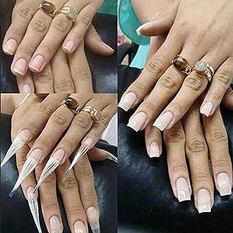 Puntas de extensión de uñas, 10 Unidades de 7 cm de Fibra de ...