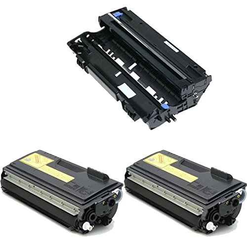 Office Mountain 3-Pack Compatible Black 2 X TN560 Toner & DR500 Drum Cartridge for Brother HL-5050 MFC-8820 DCP-8025 HL-1850 MFC-8420 DCP-8020 HL-1650 HL-1870 HL-1670 HL-5070 HL-5040 (Brother 8420 Mfc Cartridge Toner)