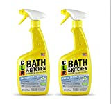 Jelmar PB-BK-2000 CLR Fresh Scent Bath and Kitchen Cleaner, 26 oz Trigger Spray Bottle (2 pack)