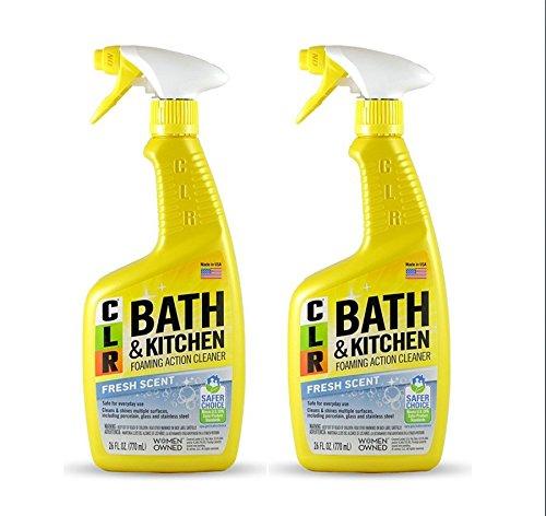 Jelmar PB-BK-2000 CLR Fresh Scent Bath and Kitchen Cleaner, 26 oz Trigger Spray Bottle (2 pack) ()