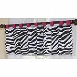 Sweet Jojo Designs Funky Zebra Window Valance