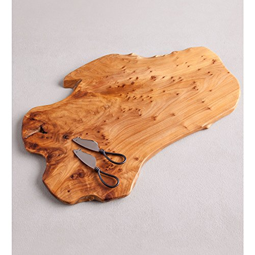 VivaTerra SERVINGWARE Root of The Earth Board with Cheese Knives, ()