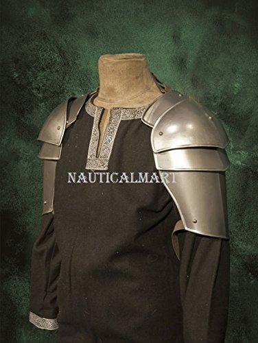 NAUTICALMART Metal armor for Larp - militia Medieval Pauldron shoulder Guard