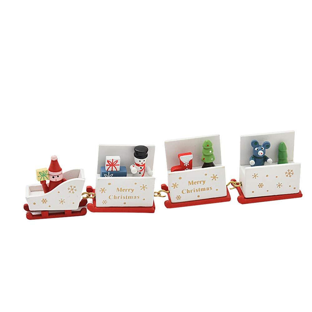 CLOOM Weihnachtsdeko Spielzeugeisenbahn Weihnachten Geschenke Zur Geburt Spielzeug Baby Geschenke fü r Kinder Kindergarten Festlich Schlafzimmer Schreibtisch Wohnzimmer Deko (Weiß , A) ⚓CLOOM
