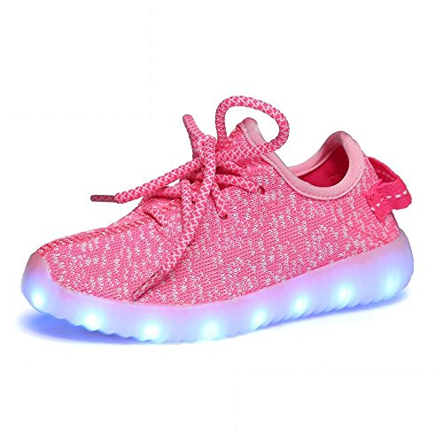 Light Up Shoes Led Flashing Fashion Sneaker for Boy Girls Kids Toldder Christmas Halloween Gift(Pink 8.5 M US Toddler)