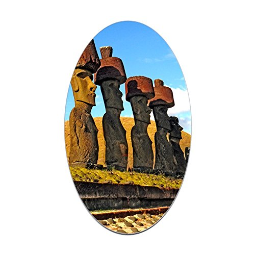 - CafePress Easter Island Rapa NUI Oval Sticker Oval Bumper Sticker, Euro Oval Car Decal