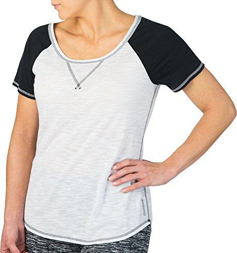 移民差別座標リーボック トップス シャツ Reebok Women's Baseball Training T-Shirt CaviarPure [並行輸入品]