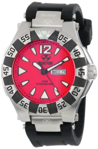 (REACTOR Men's 53811 Gamma Stainless Steel Watch with Black Rubber Strap)