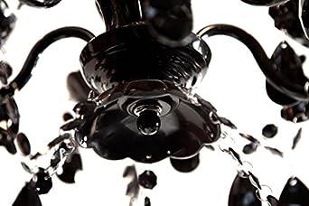 Kronleuchter Barock Schwarz ~ Kronleuchter schwarz 5 armig hängelampe hängeleuchte lüster rock