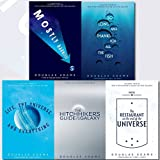 Hitchhiker's Guide to the Galaxy Series Douglas Adams Collection 5 Books Bundle (Mostly Harmless, So Long, and Thanks for All the Fish, Life, the Universe and Everything, The Restaurant at the End of the Universe, The Hitchhiker's Guide to the Galaxy)